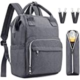 Diaper Bag, Meinkind Nappy Bag for Baby Care, Diaper Bag Backpack with Large Capacity and Insulated Pockets for Mom and Dad, Stylish and Durable Designer Diaper Bags for Girls and Boys, Grey