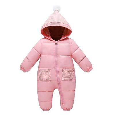 Unisex Baby Boys Girls Winter Puffer Jacket Jumpsuit Warm Fleece Lined Snowsuit Romper Bodysuit