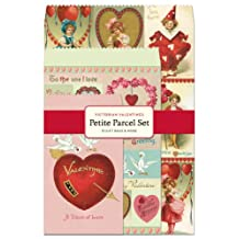 Cavallini Papers Parcel Victorian Valentines Gift Bags, Petite, Set of 12