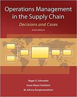 Kết quả hình ảnh cho OPERATIONS MANAGEMENT IN THE SUPPLY CHAIN: DECISIONS & CASES