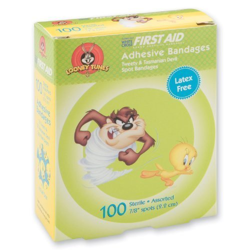 First-aid Taz & Tweety Spot Bandages - 100 Per Pack by SmileMakers Inc