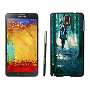 NEW Unique Custom Designed Samsung Galaxy Note 3 N900A N900V N900P N900T Phone Case With Motocross Jump Forest_Black Phone Case