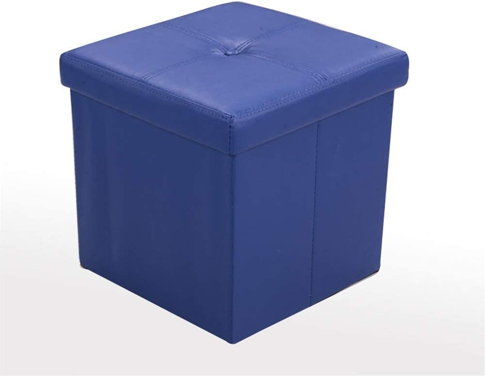 Qtqz Brisk- Fashion Storage Stool Sofa Stool Switch Shoe Stool Bench Bett Stool (4 Colors Optional) (38 38 38Cm) (Color: B)