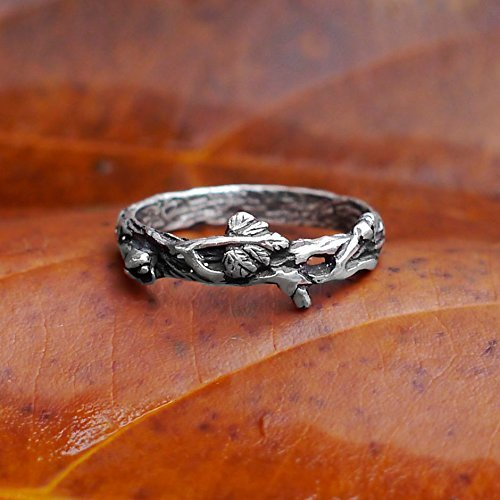Antique Engagement Ring Set (Sterling Silver Twig Ring