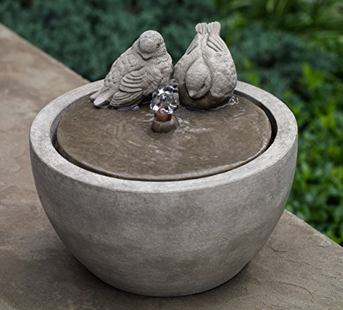 Campania International FT-267-AS M-Series Bird Fountain, Alpine Stone Finish