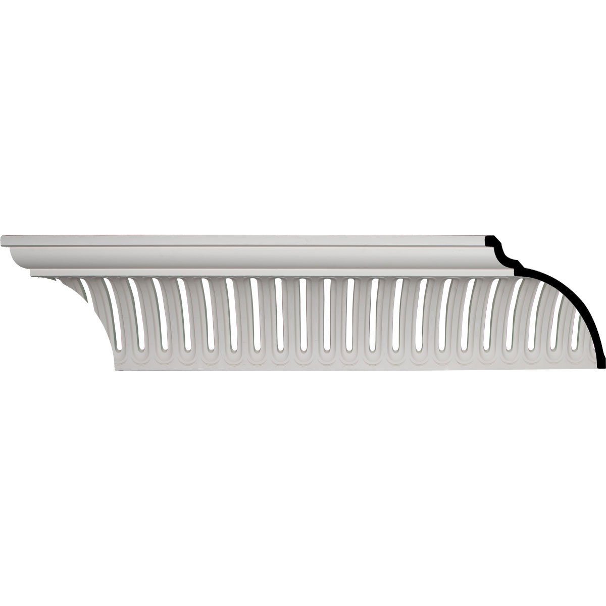 Ekena Millwork MLD11X10X15MB-CASE-12 11-3/8'' H x 10-7/8'' P x 15-7/8'' F x 95-7/8'' L Melbourne Crown Molding (12-Pack)