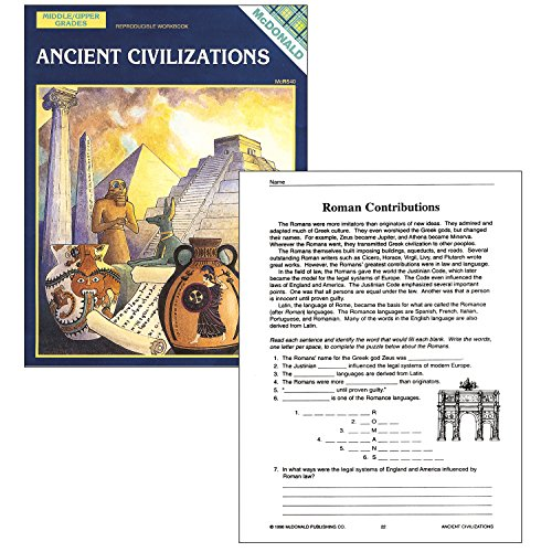 "McDonald Publishing MC-R540 Ancient Civilizations Reproducible Book, 0.3"" Height, 8.6"" Wide, 11.3"" Length"