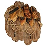 Comfy Hour 13'' Farm Animals Hand Carved Wooden Double Coat Hooks Clothes Rack Decorative Wall Hanger - Horse