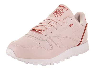 0f30d112662 Reebok Women s CL LTHR HW Sneaker Pale Pink White Rose Gold 5 ...