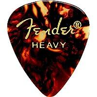 Fender 351 Classic Celluloid Guitar Picks 12-Pack, Tortoise Shell, Heavy