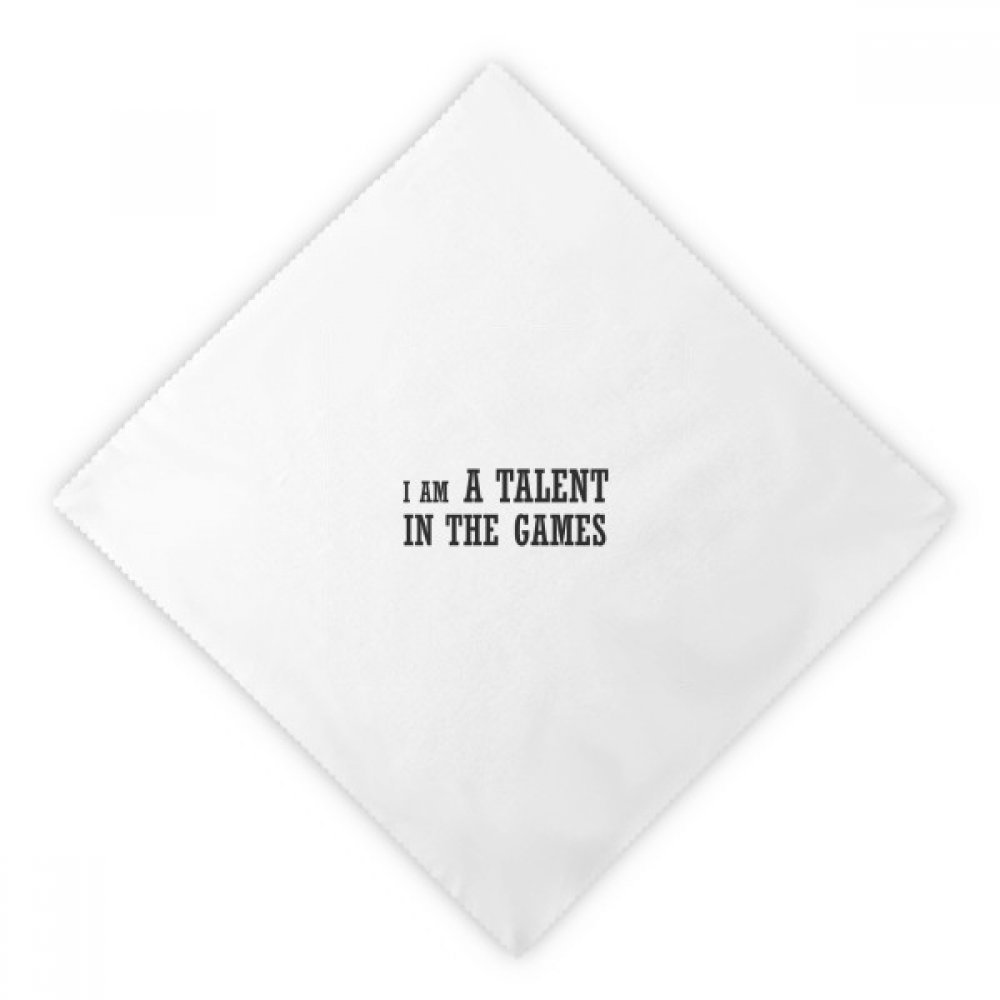 DIYthinker I Am A Talent Games Dinner Napkins Lunch White Reusable Cloth 2pcs
