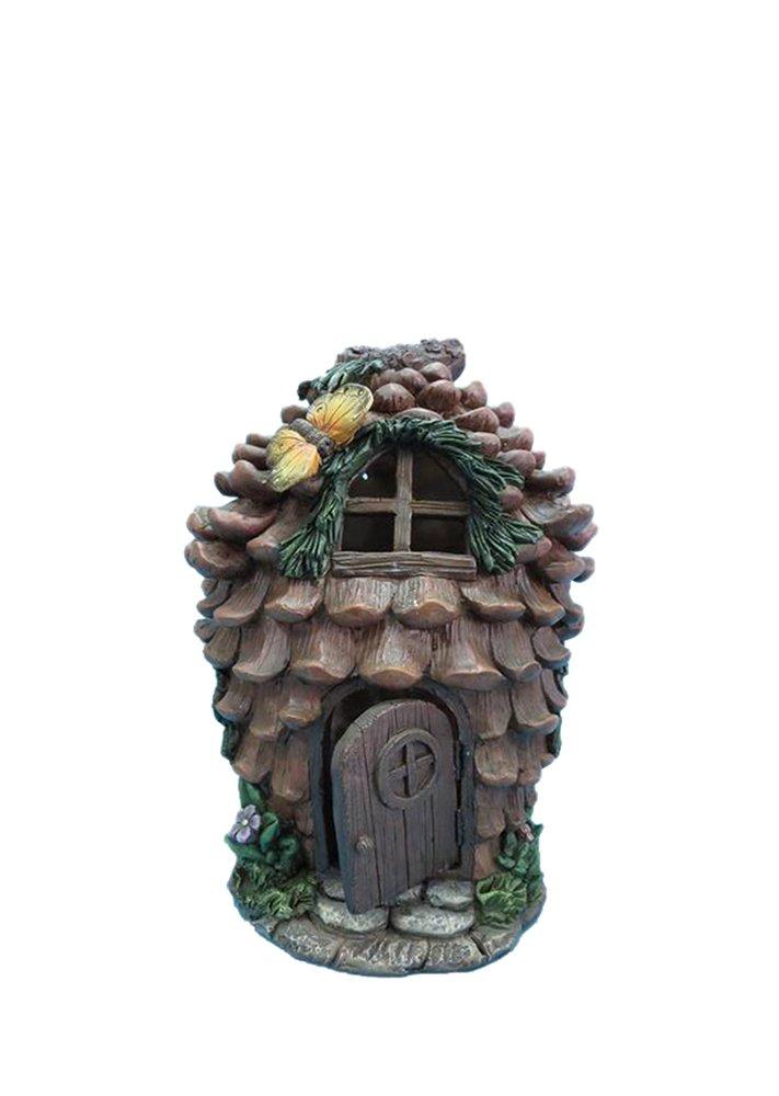 Hi-Line Gift Ltd Fairy Garden Pinecone House