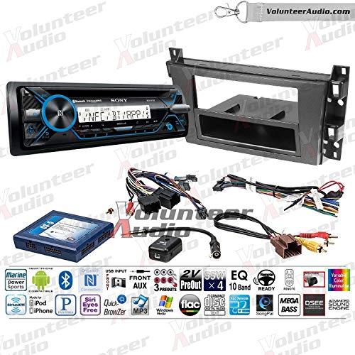 Sony MEX-M71BT Single Din Marine Radio Install Kit With Sirius XM Ready, CD Player, AUX/USB Fits 2006-2010 Cadillac DTS