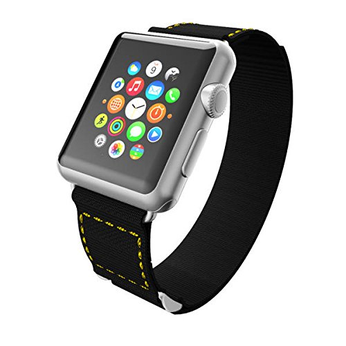 Incipio Smartwatch Replacement Band for Apple Watch 38mm - Black/Yellow Stitching