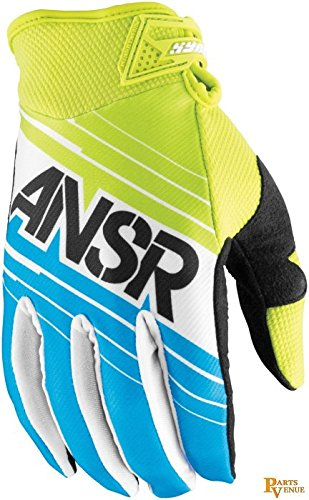 Answer Racing Syncron Men's Dirt Bike Motorcycle Gloves - Blue/Green / 2X-Large ()