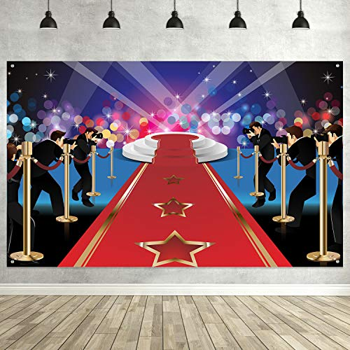 Red Carpet Scene Setter - Hollywood Party Decoration, Extra Large Fabric