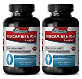 Product review for antiaging pills - GLUCOSAMINE & MSM 3200MG - glucosamine supplement - 2 Bottle (120 Capsules)