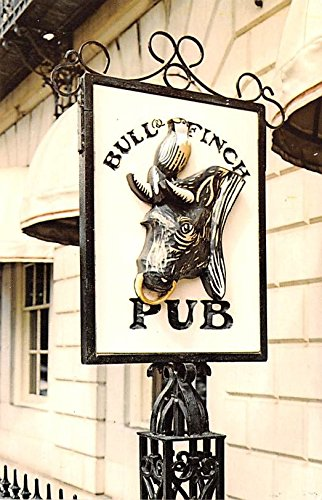 Wine and Liquor Advertising Old Vintage Antique Post Card Bull & Finch Pub, Inspiration of TV Cheers Unused