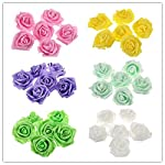 Tinksky-Artificial-Foam-Roses-Flowers-for-Home-Wedding-Decoration-Bridal-Shower-FavorPack-of-50-Yellow