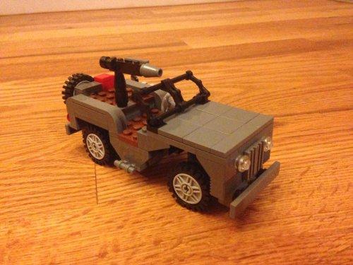 Custom Lego World War Ii Willys Jeep Buy Online In Ksa Toy