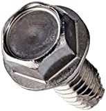 """18-8 Stainless Steel Thread Cutting Screw, Plain Finish, Hex Washer Head, Type F, #12-24 Thread Size, 1/2"""" Length (Pack of 10)"""