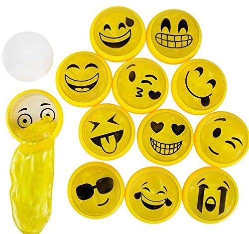 Mini Emoji Noise Putty - 24 pc - emoji party favors and toys by happy deals