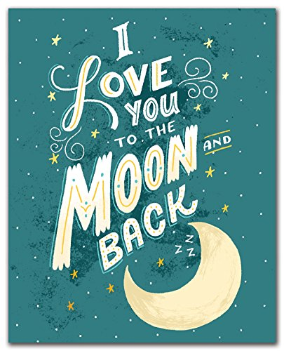 Studio Oh! Art Print, I Love You to the Moon and Back