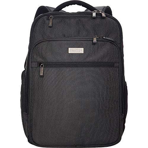 """51Yt5Y3GXfL - Kenneth Cole Reaction Brooklyn Commuter 16"""" Backpack Pink Dot Charcoal One Size"""