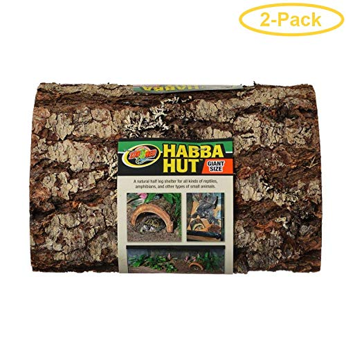 Habba Hut for Terrariums [Set of 2] Size  Giant (1  L x 10.75  W x 4.5  H)