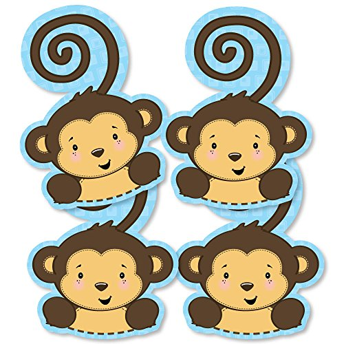 Blue Monkey Boy - Monkey Decorations DIY Baby