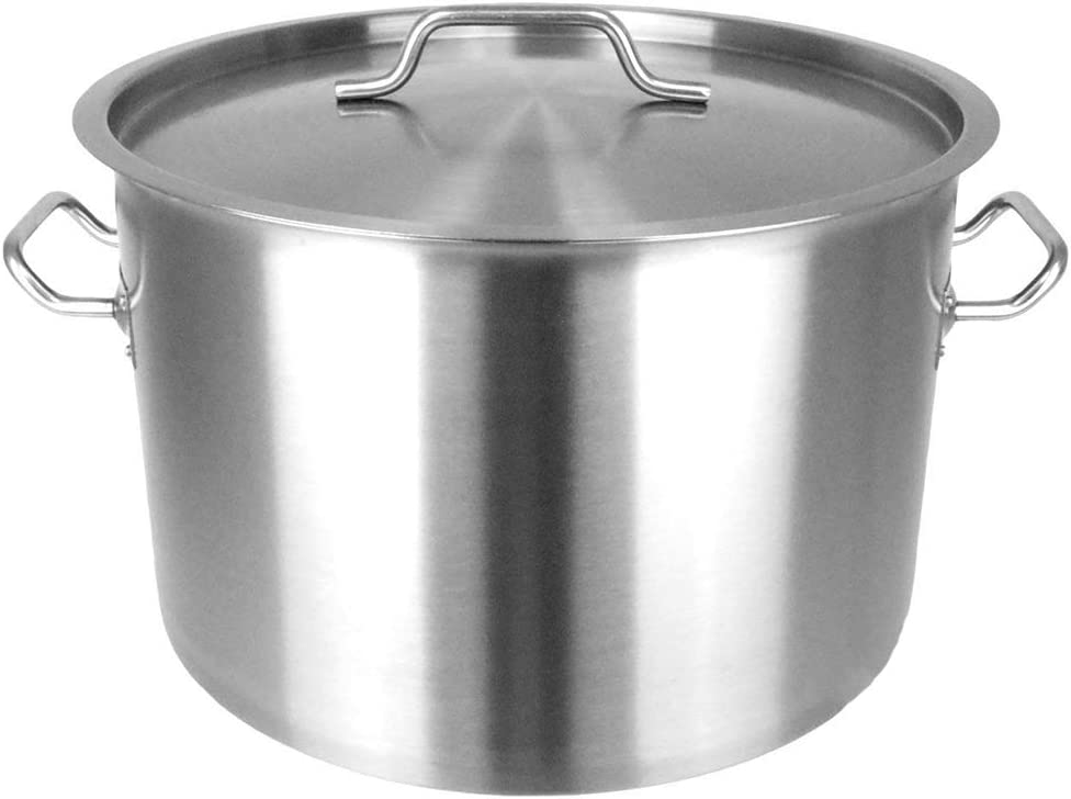 "Thaweesuk Shop Dutch Oven Pot 22Qt Heavy Duty Capsulated Bottom w/Lid Traditional Olla.7""H x 15.5""D of Set"