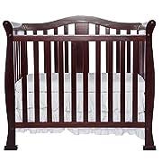 Dream On Me Addison 4 in 1 Convertible Mini Crib, Cherry