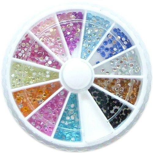 1200 pcs Glitter Bijoux Manucure Décoration Ongles Nail Art