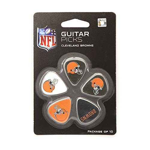 NFL Cleveland Browns Guitar Pick (10-Pack), 1-Inch x 1-3/16-Inch, Orange by Woodrow Guitar by The Sports Vault