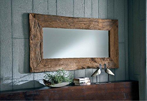 Natur Unikat Wandspiegel Massiv Teak Holz Spiegel Altholz Edel 150cm