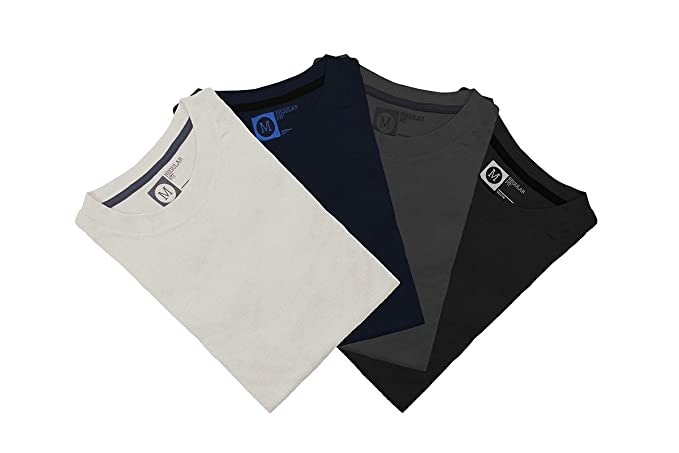 Primark - Pack de 4 Camisetas para Hombre, Talla M: Amazon.es: Ropa y accesorios