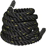 "ZENY Battle Rope 1.5"" Diameter 100% Poly Dacron 30ft Length Workout Exercise Rope Undulation Core Strength Training…"