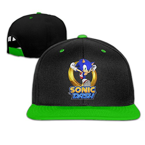 sonic-the-hedgehog-sonic-dash-kids-hip-hop-baseball-hat-kellygreen