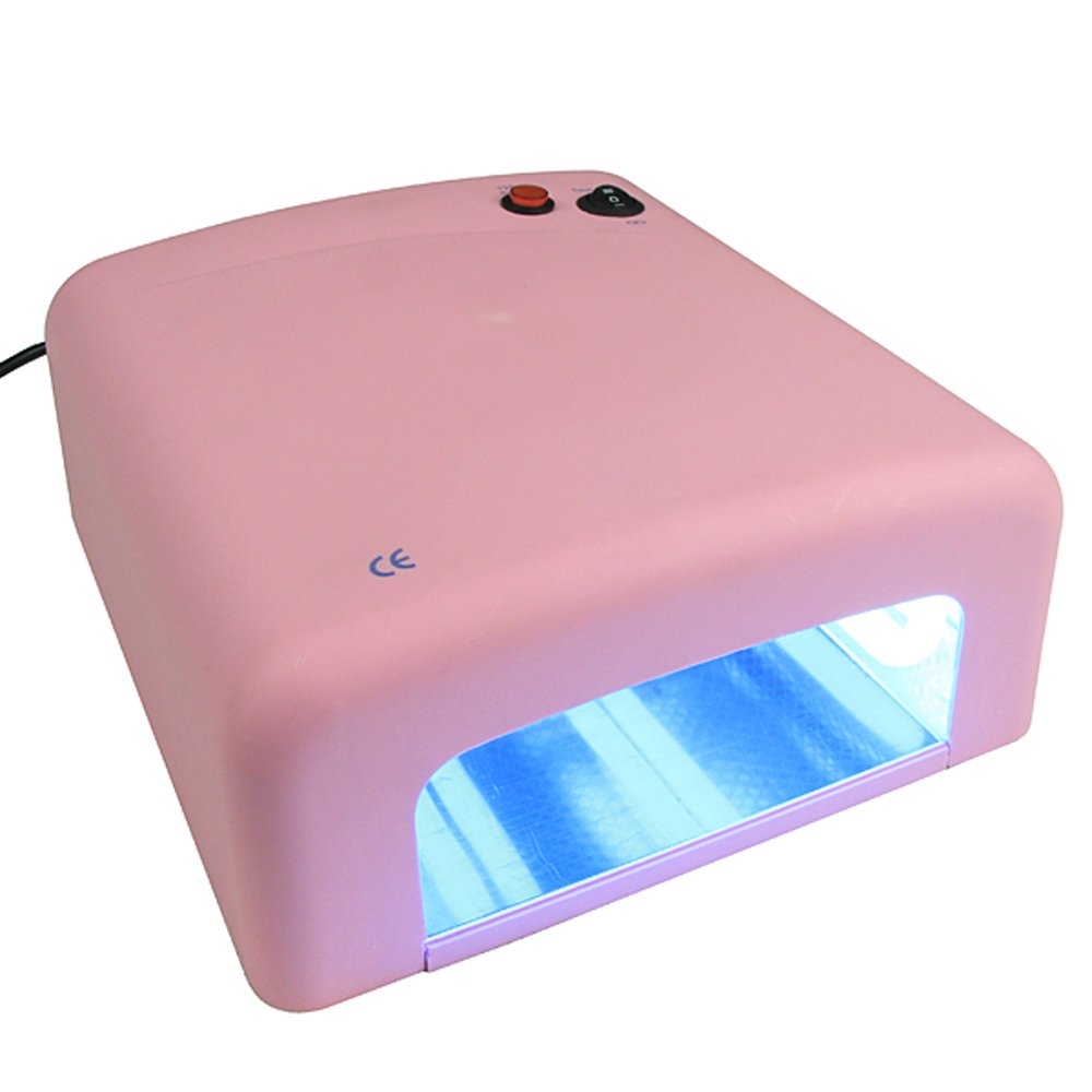 Amazon BESDATA 110V 120V 36W UV Lamp 4 Tube Bulbs Phototherapy Nail Dryer Ideal For Beauty Salon And Household Pink