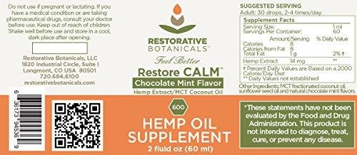 Restorative-Botanicals-Hemp-Oil-Extract-600-mg-Chocolate-Mint-Flavor-2-ounce-60ml-Restore-CALM