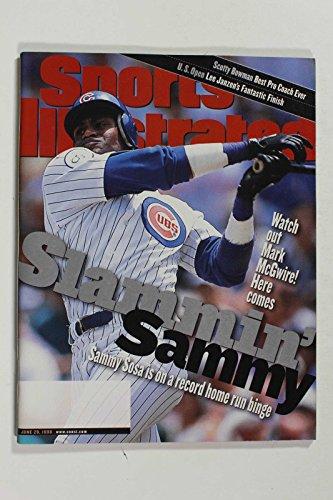 JUNE 1998 SPORTS ILLUSTRATED MAGAZINE, SAMMY SOSA CHICAGO CUBS NICE