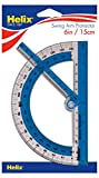 Helix 180° Shatter Resistant Swing Arm Protractor 6in