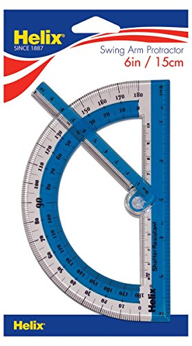 Helix 180° Shatter Resistant Swing Arm Protractor 6' / 15cm