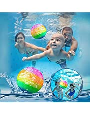 Watermelon Ball for Pool Swimming Pool Toys Ball Underwater Game Pool Games Swimming Accessories Pool Ball with Water injector for Under Water Passing, Dribbling, Diving, Pool Games for Teens, Adults