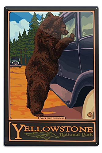 (Novelty Funny Sign Don't Feed The Bears Vintage Metal Tin Sign Wall Sign Plaque Poster for Home Bathroom and Cafe Bar Pub, Wall Decor Car Vehicle License Plate Souvenir 11-20-2)