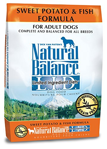 Natural Balance L.I.D. Limited Ingredient Diets Dry Dog Food, Grain Free, Sweet Potato & Fish Formula, 26-Pound by Natural Balance