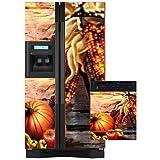 Appliance Art 11173 Appliance Art Fall Harvest Combo Refrigerator- Dishwasher Covers