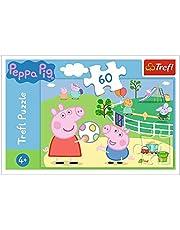 Trefl 17356 kul med vänner, Peppa Pig 60 delar, för barn från 4 år pussel, flerfärgad