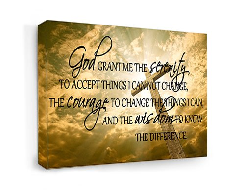 FRAMED CANVAS PRINT God grant me the serenity to accept things I can not change, the courage to change the things I can