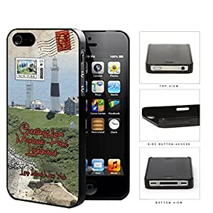 Montauk Point Postcard Long Island NY Hard Plastic Snap On Cell Phone Case Apple iPhone 4 4s